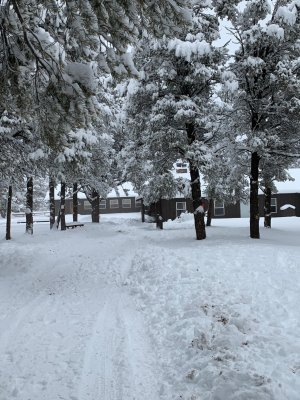 second day of snow during Outdoor Ed. picture 2