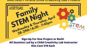 Virtual Family STEM Night Flyer