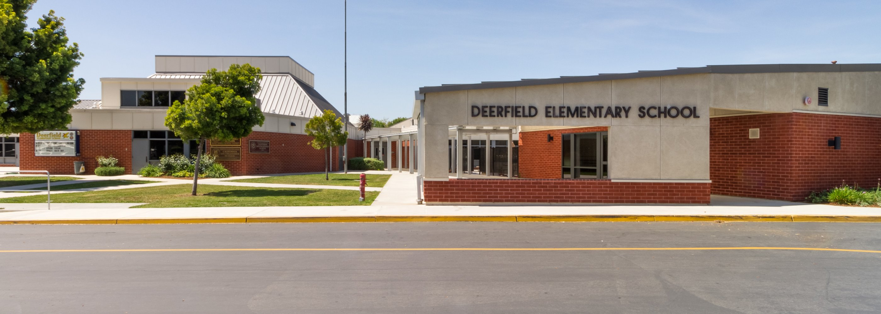 front of Deerfield school