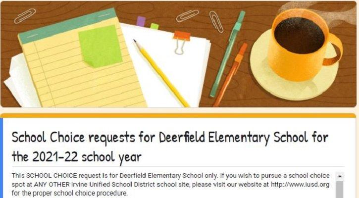 School Choice 2021 22   Deerfield Elementary